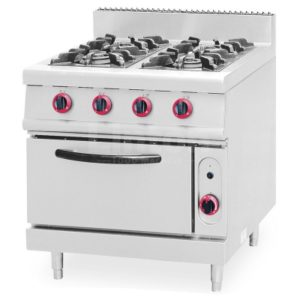 Industrial 4 Burners Gas Cooker Range with Oven