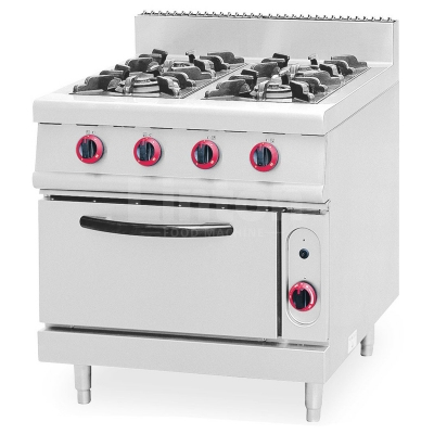 Buy Industrial 4 Burners Gas Cooker Range With Oven At
