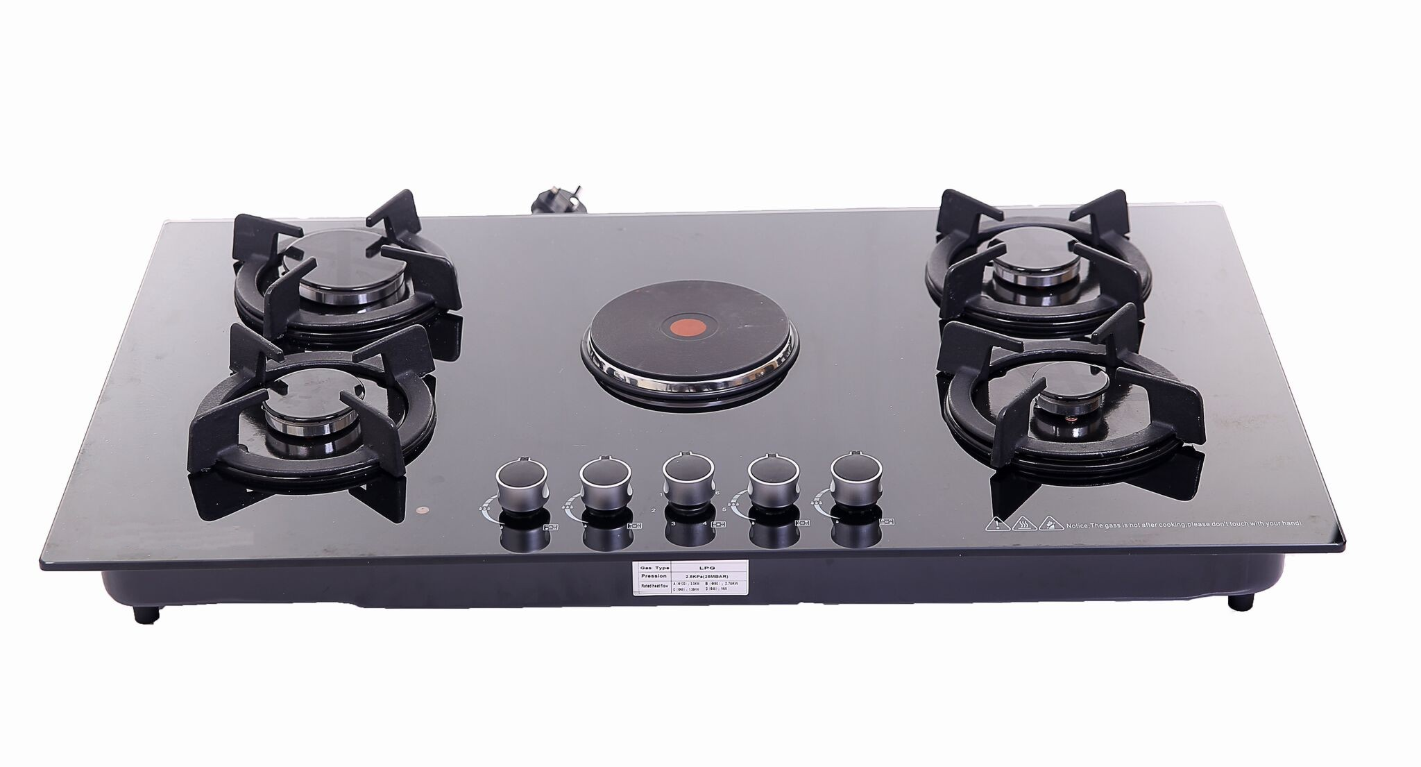 Buy 5 Burners Built In Gas Cooker 90 Cm At Best Price In